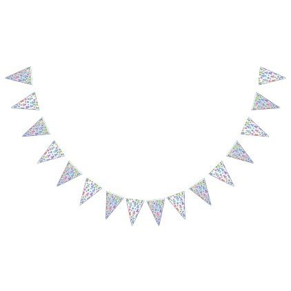 Easter Bunting Bunting Flags - craft supplies diy custom design supply special
