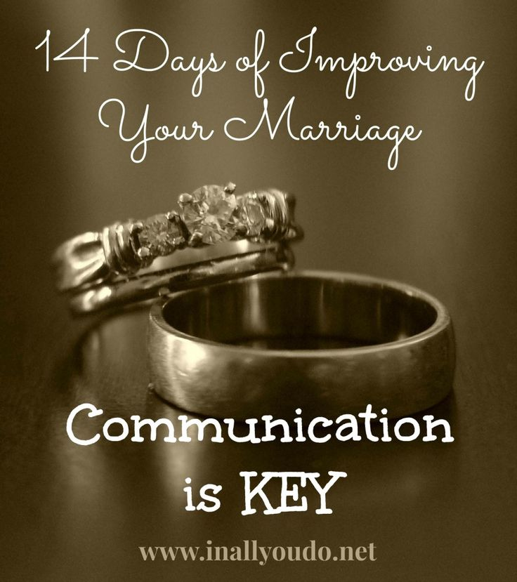 14 Days of Improving Your Marriage: Day 2 ~ Communication is Key - Some tips on how to improve your communication in #marriage via @In All You Do