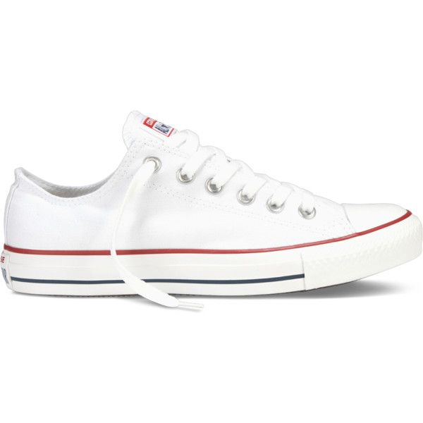 Converse Chuck Taylor All Star Classic Colors – white Sneakers ($50) ❤ liked on Polyvore featuring shoes, sneakers, converse, chuck taylor, white, converse trainers, white trainers, rocker shoes, star sneakers and rubber sole shoes