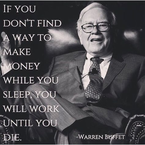 The importance of passive income by Warren Buffet ...