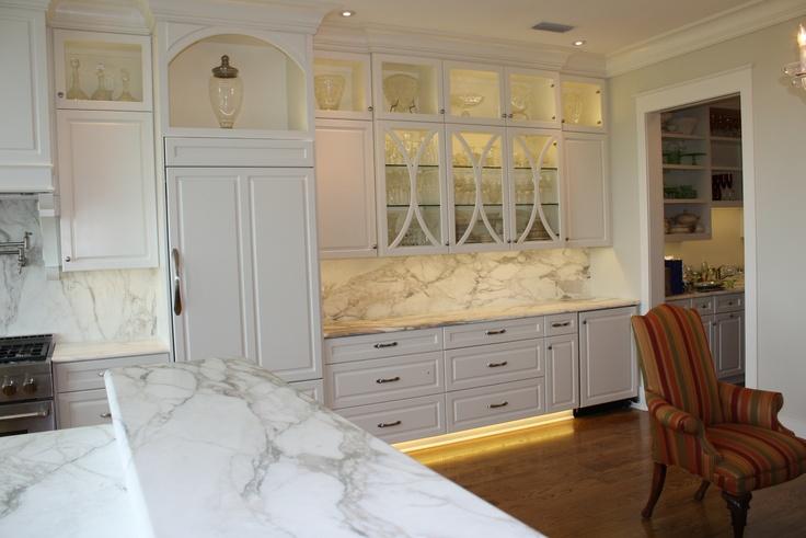Calcutta Gold White Marble Kitchen Counter Tops My Dream
