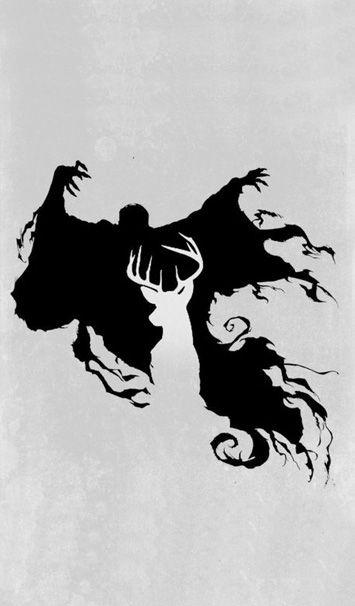 Dementor & Patronus cell phone background