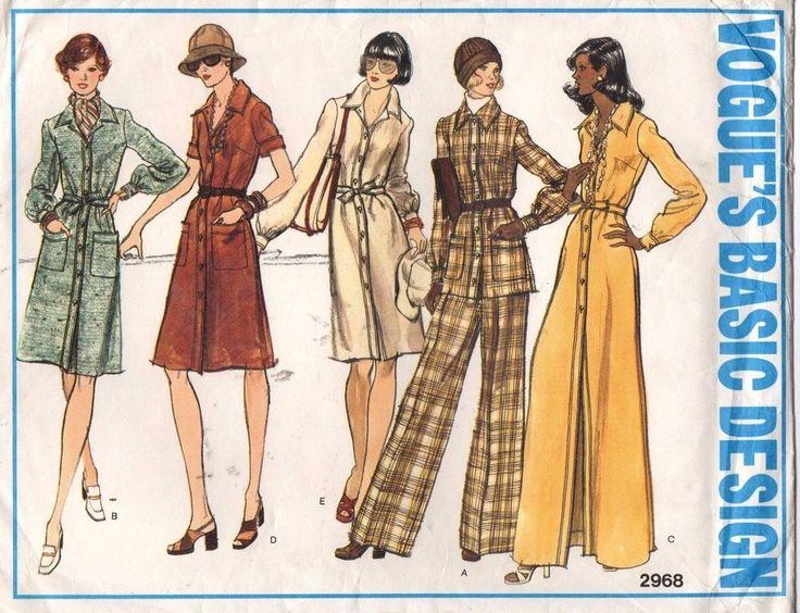 Vogue Sewing Pattern VTG Dress Tunic Wide-Legged Pants 2968 Size 12 Uncut #VoguePatterns