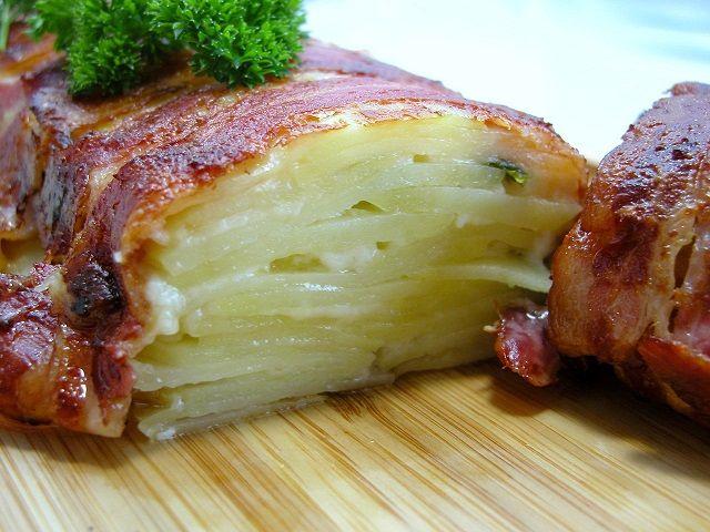 Kartoffelgratin med bacon