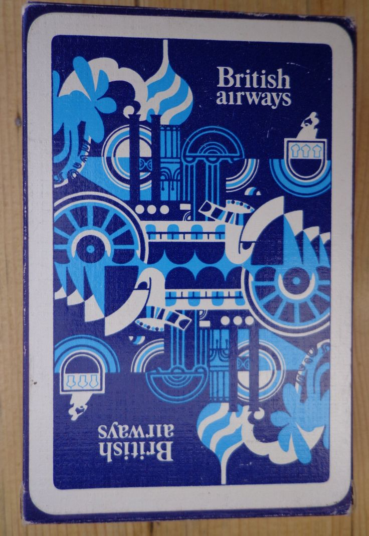 Vintage British Airways Playing Cards, Sealed Deck, Made In england. by OnyxCollectables on Etsy