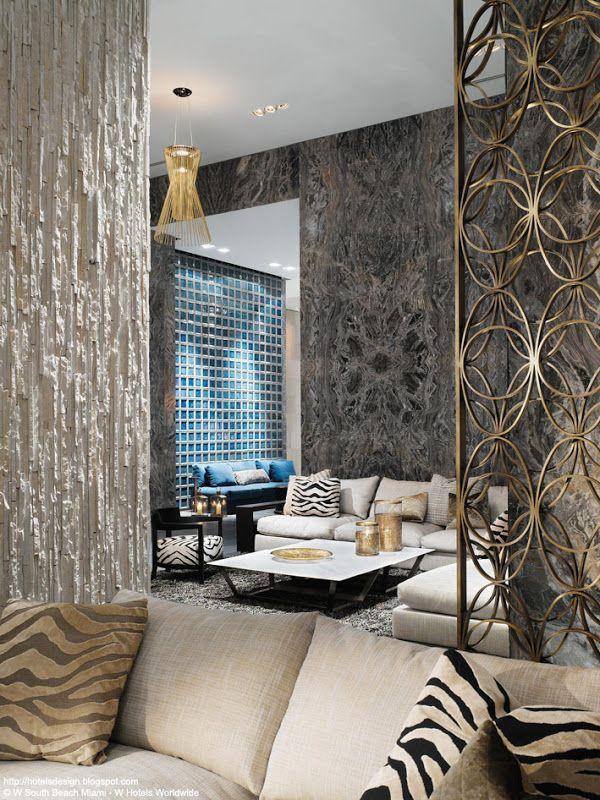 W SOUTH BEACH Les Plus Beaux HOTELS DESIGN Du Monde Beach Living RoomLiving RoomsMiami