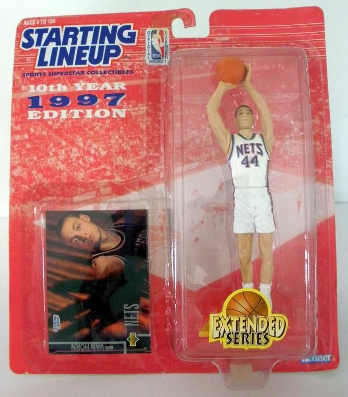 1997 Starting Lineup 10th Year Edition Keith Van Horn Extended Series Figure New #Kenner