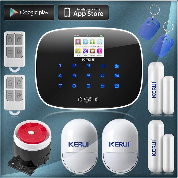 KERUI G19 TFT Grand Écran Affichage GSM Dialer Sans Fil Système D'alarme de Sécurité À Domicile avec RFID Tags Commutateur Intelligent de Contrôle