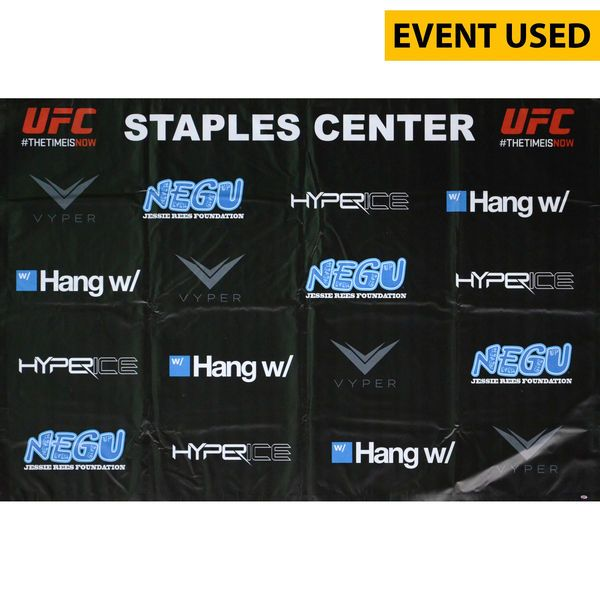 Jake Ellenberger Ultimate Fighting Championship Fanatics Authentic Autographed Event-Used 72'' x 48'' UFC 184 Sponsor Banner - Defeated Josh Koscheck via 2nd Round Submission - $249.99