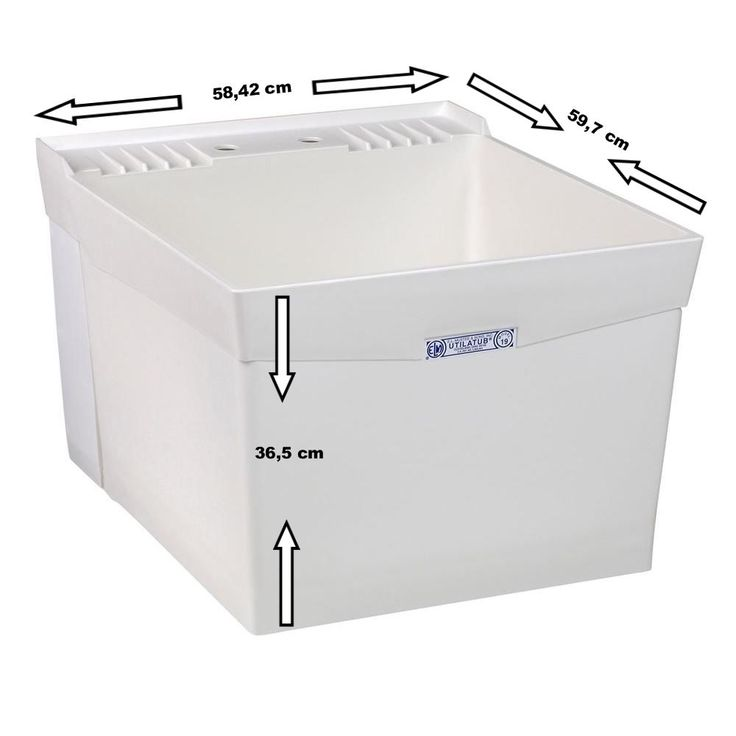 Utility sinks Wash Trog Wash basin Sink Tub 15W extra large and deep in Home, Furniture & DIY, Bath, Sinks   eBay