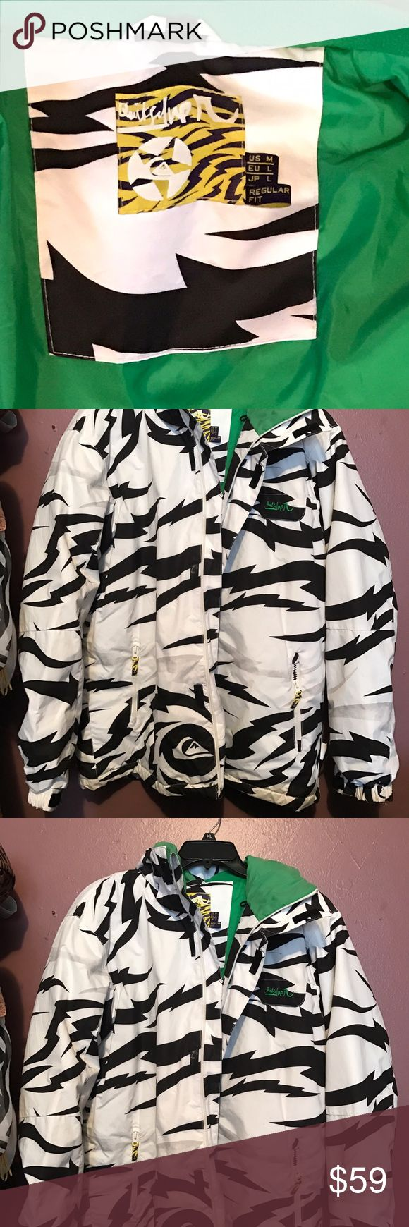 Men's quicksilver snowboarding jacket Never worn! New without tags! Size men's M, so it runs a little longer. Equivalent to a women's Large. Thick and warm! Waterproof outer shell with hood. quicksilver Jackets & Coats Puffers