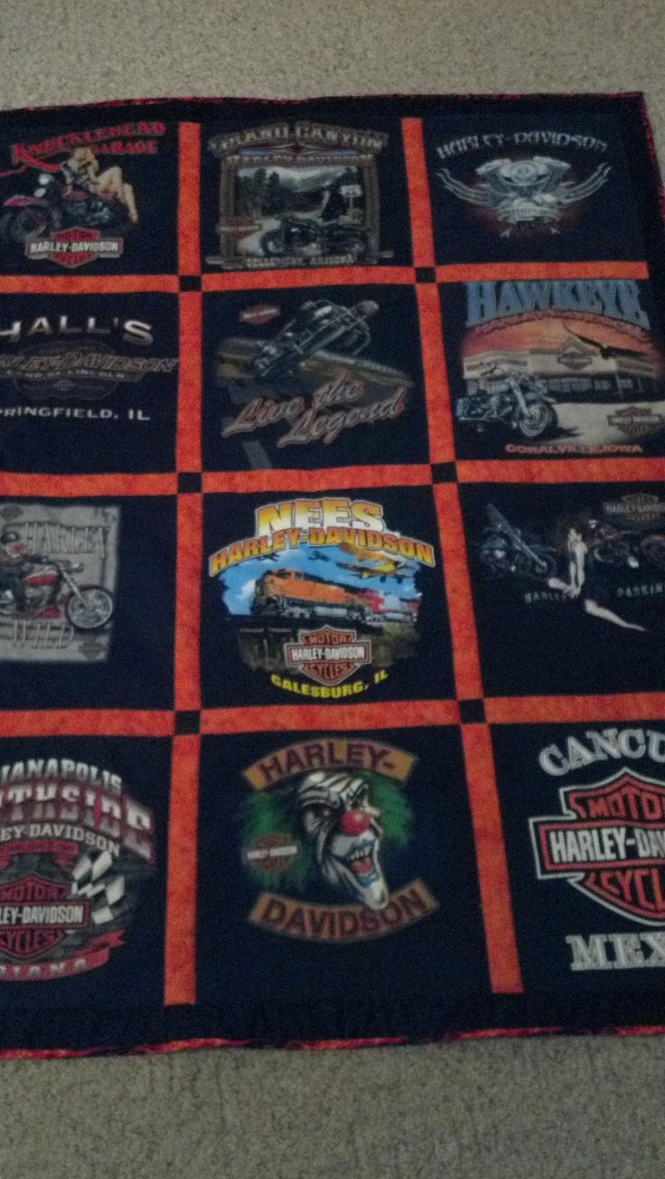 Handmade Harley Tshirt Quilt By Made4ubydebrabigger On