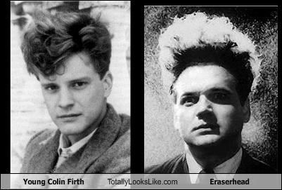 Young Colin Firth and Jack Nance As Eraserhead