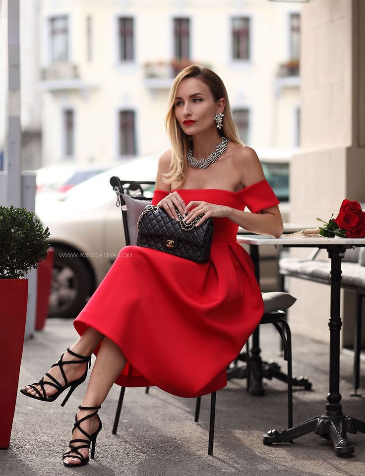 Red dress chanel