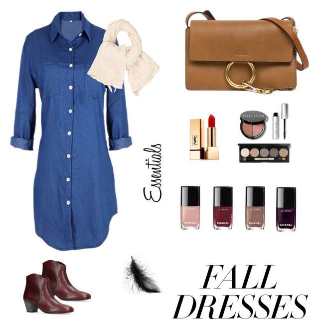 """""""Fall dresses - essentials ✨"""" by alicarrillog on Polyvore featuring mode, donni charm, Isabel Marant, Chloé, Bobbi Brown Cosmetics, Yves Saint Laurent, polyvorecontest et falldresses"""