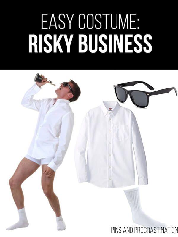 Easy Last Minute DIY Halloween Costume: Risky Business