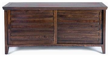 Sonoma Media Cabinet, Large, Dark Walnut - contemporary - media storage - Gingko Home Furnishings