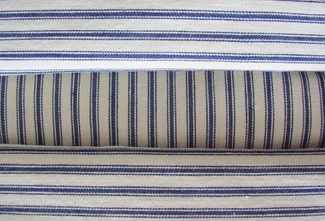 Did you know that old fashioned striped mattress ticking