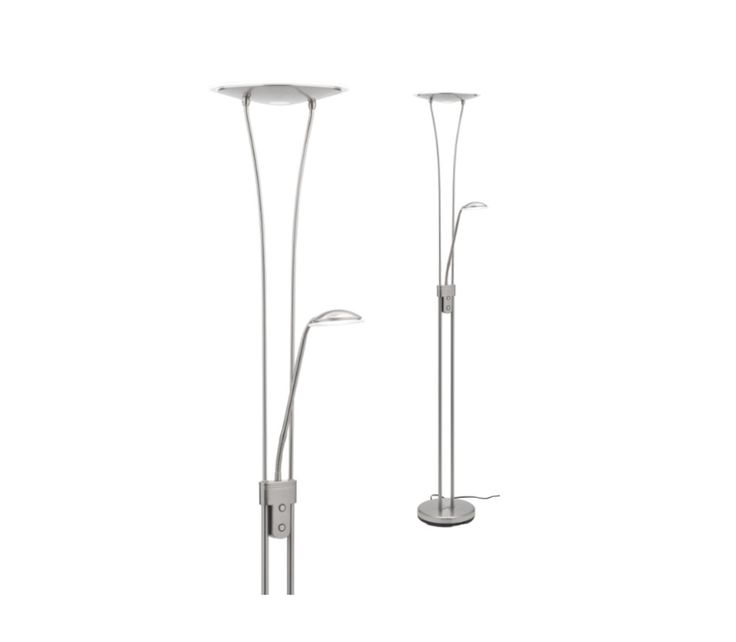 Chandler Touch Dimmable LED 18w + 5w Mother & Child Floor Lamp Mercator A40822BC, $239.00