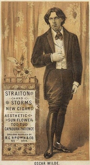 1882 ad: Oscar Wilde for R.C. Brown & Co.