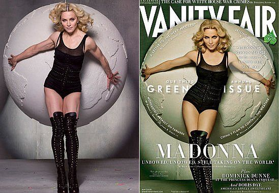 Madonna before and after Photoshop.