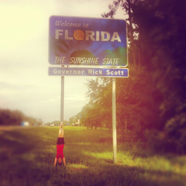 Moving Photo Idea :: When you arrive to your new city, state, or country... Take a creative photo at the State line or other landmark so you always have a memory of that moment of new adventure!!