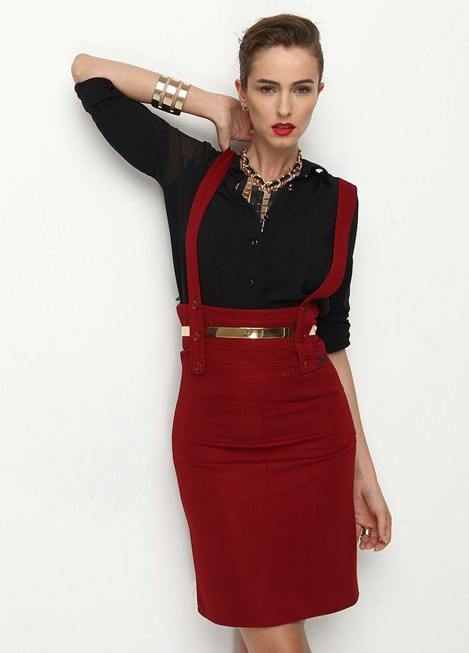 Stil Aşkı: Ofiste Neler Moda Etek Markafoni'de 79,99 TL yerine 44,99 TL! Satın almak için: http://www.markafoni.com/product/4764325/ #fashion #shopping #fun #alisveris #bestoftheday #model #girl #dress #style #stylish #instafashion #officestyle #office #ofismodasi #markafoni