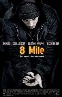 Eminem. Best rapper in the world. Film premiere of 8 Mile corner of the city. Together with three friends. Wading fate.