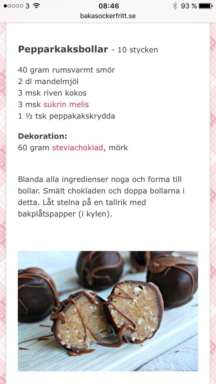 Pepparkaksbollar - Baka sockerfritt