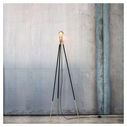 Nice Styletaboo: Lambert U0026 Fils   Cliff Tripod Floor Lamp [brass And Powder  Coated Aluminium