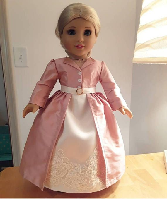 $40 RESERVED - 1st Payment - Marie Antoinette Redingote and Petticoat for American Girl 18 inch doll, Pemberley