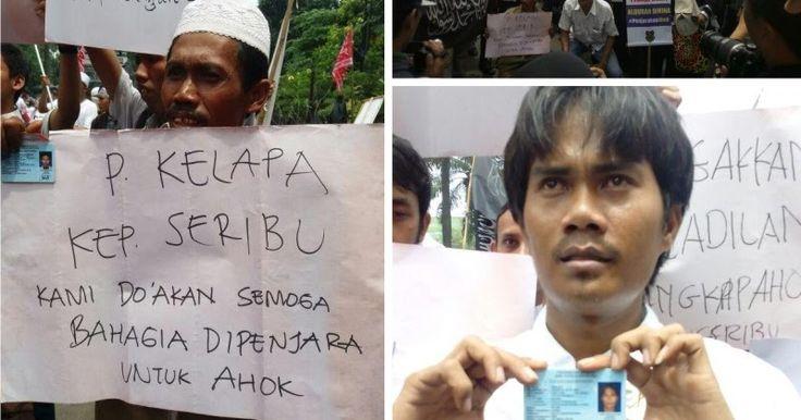 """Sekitar 30 Warga Kepulauan Seribu Hadiri Sidang Ahok Tuntut Ahok Dipenjara """"SEMOGA BAHAGIA DI PENJARA"""""""