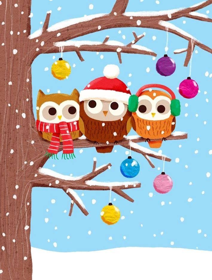 Christmas Owls lisa