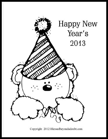 year 2009 coloring pages - photo#16