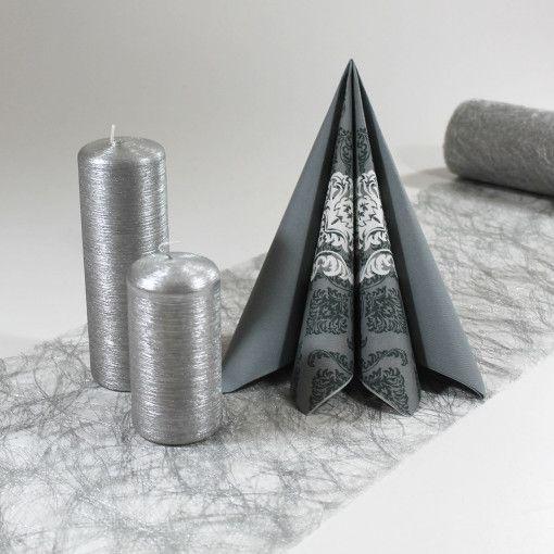 Inspiration til borddækning  #Sølvbryllup #Tekstilservietter #Sizoweb