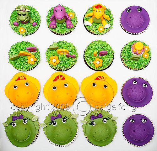 Barney & Friends Cupcakes, via Flickr.