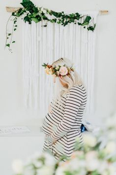 The sweetest bohemian baby shower: http://www.stylemepretty.com/living/2016/06/08/unique-boho-baby-shower/