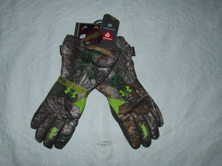 UNDER ARMOUR NWT MENS SCENT CONTROL GORE-TEX INSULATOR HUNTING GLOVES LARGE NR