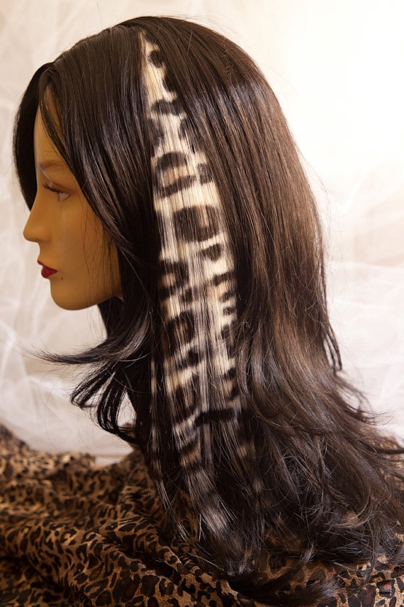 Animal Print Hair Extension 16in By Hairclipsbytiph On Etsy 3100