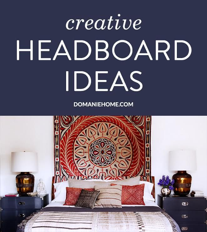 Beautiful, inspiring alternatives to a traditional headboard, from textiles to murals and mirrors, that are sure to make any bedroom come to life.