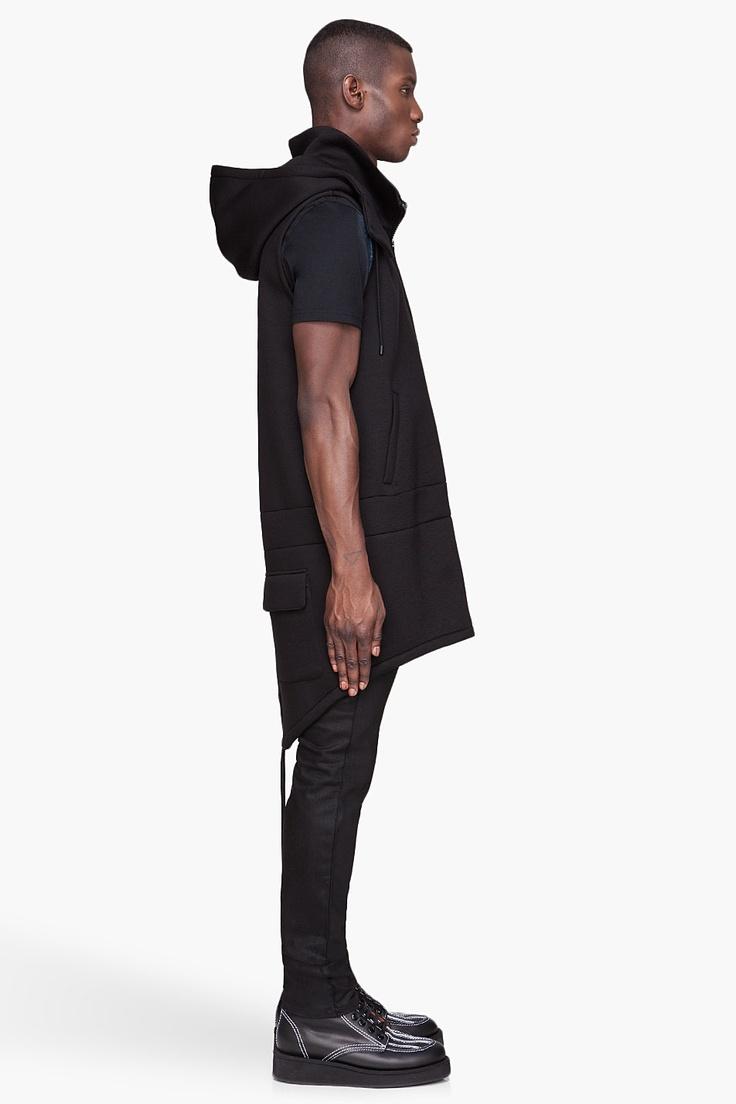 SSENSE-Givenchy: Black long Neoprene Vest  $2015.00