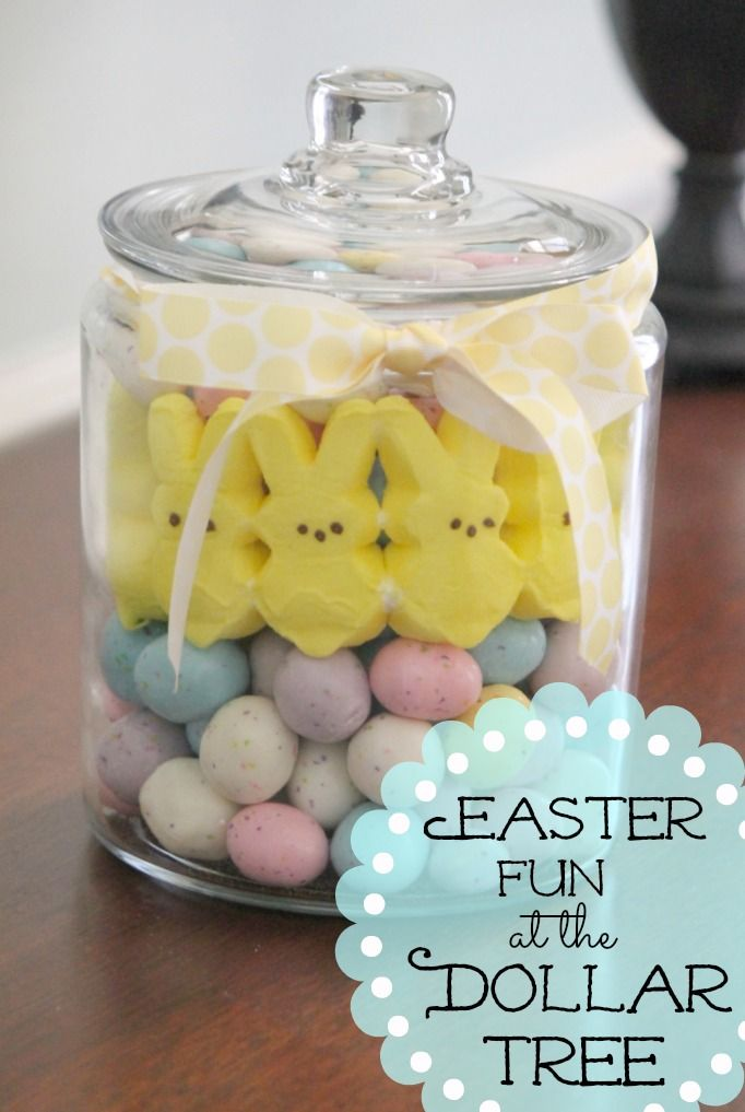Dollar Tree Decorating: Easter Fun - so simple and it looks great.