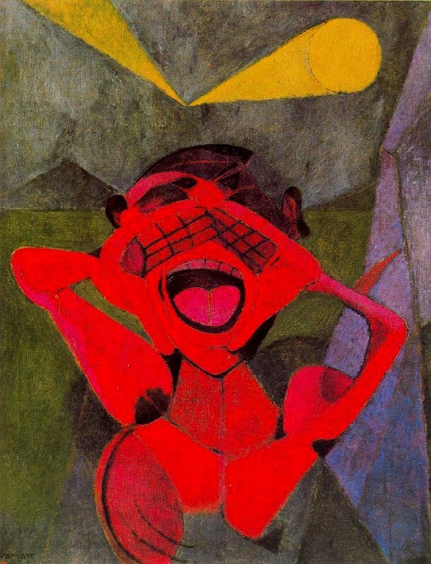 Rufino Tamayo, 'El Grito', 1947. A Mexican painter whose work is new to me. http://www.foroxerbar.com/viewtopic.php?t=10781  http://www.nytimes.com/1991/06/25/obituaries/rufino-tamayo-a-leader-in-mexican-art-dies-at-91.html?pagewanted=all