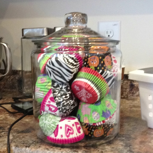 Cupcake Liners Kitchen Decor