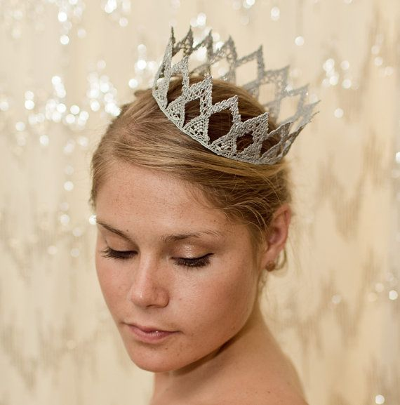 Might just need this... ;-) Silver Princess Fairytale Lace Crown by neesiedesigns on Etsy, $15.00