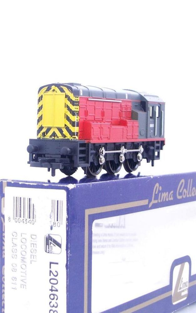 LIMA L204638 - VIRGIN RED / WASP STRIPE  LIVERY CLASS 08 DIESEL SHUNTER No.08611
