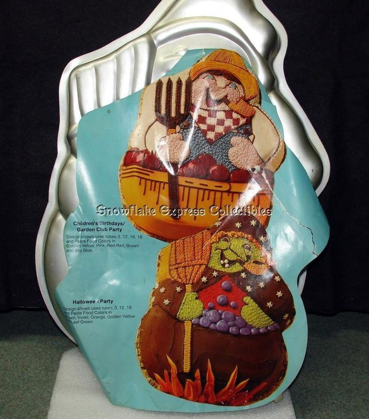 Wilton Snowman or Halloween Cake Pan Mold n Insert 1980 502-1645 #Wilton