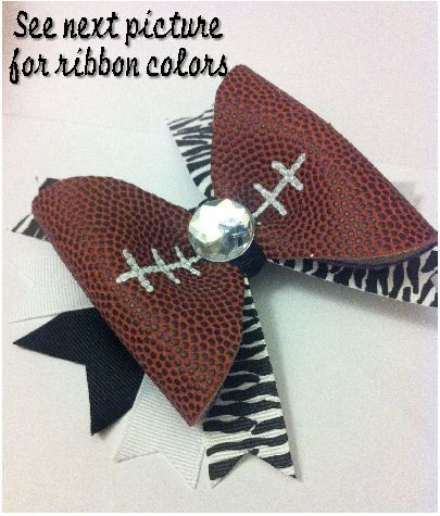 Football Hair Bow REAL Football by 3CraftinSisters on Etsy    I'm so making this for my girls!!!