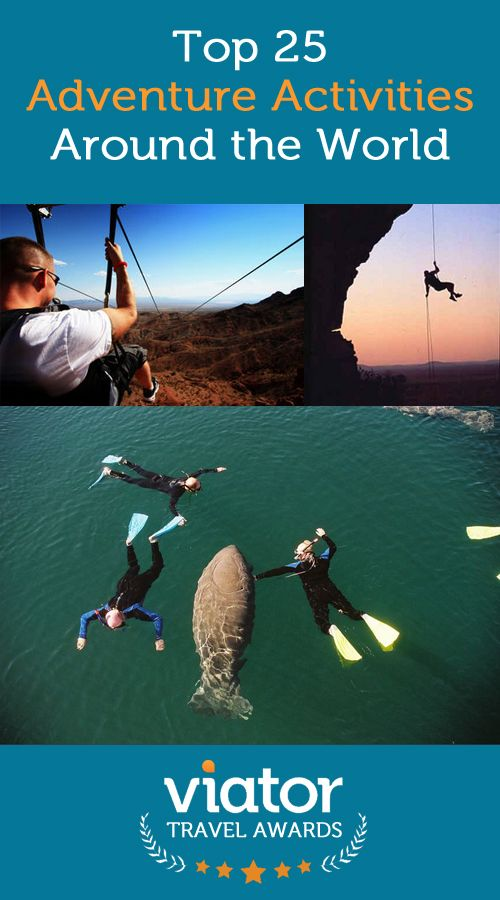 Top 25 Adventure Activities Around the World, from our 2014 Viator Travel Awards: http://travelblog.viator.com/top-adventure-activities-around-the-world/