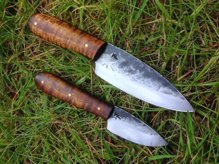 ML Knives Extended Caper and EVD in Tiger Maple